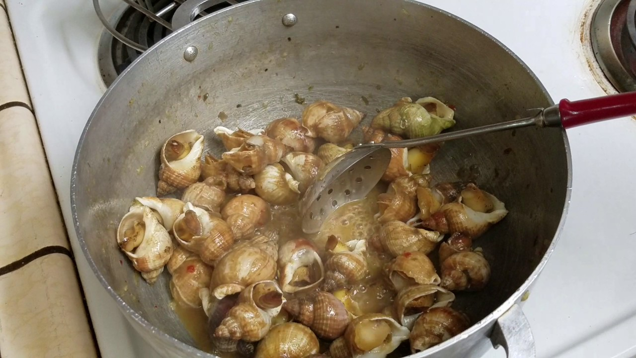 ốc hương xào bơ tỏi – spicy garlic butter whelks