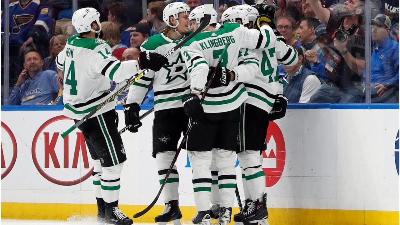 Stars hold off Blues to close in on Western Conference final