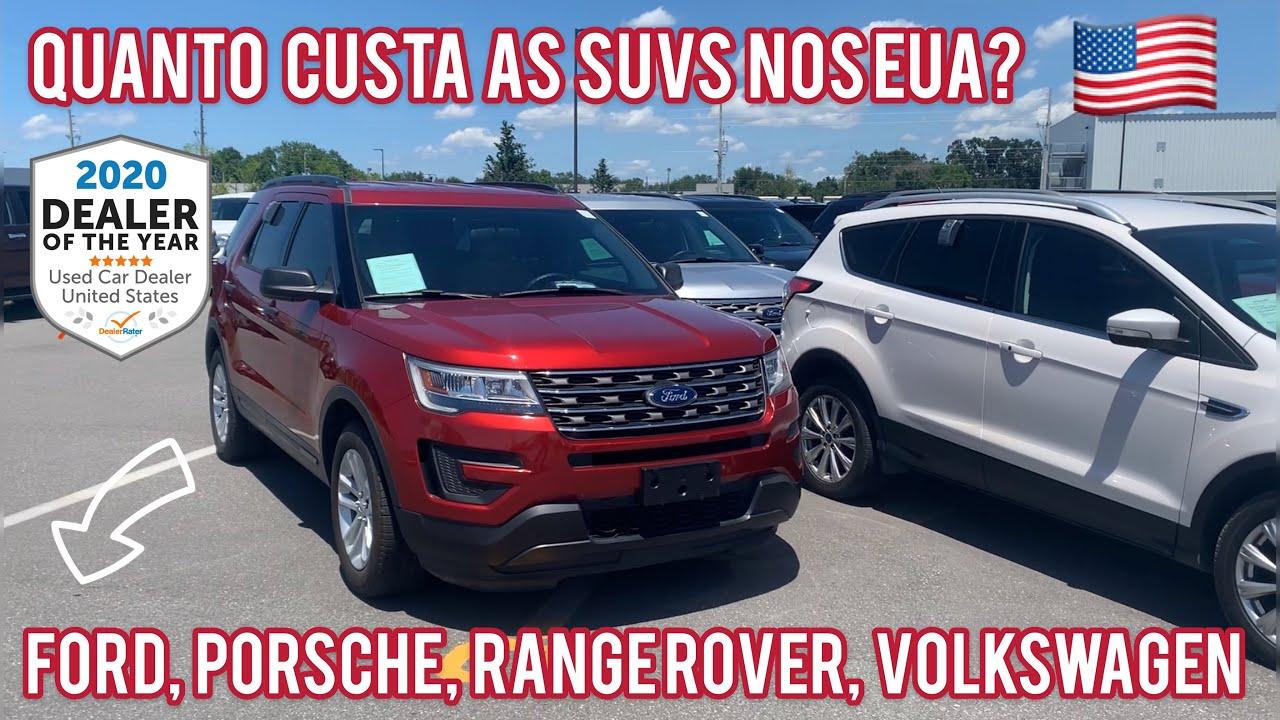 PREÇOS DOS CARROS USADOS NOS EUA 2020: SUV's (1ª Parte)