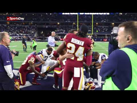 Watch Cowboys Dak Prescott and Ryan Switzer greet Kirk Cousins and Josh Norman post game