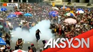 Street party sa Rio, nabulabog ng gulo