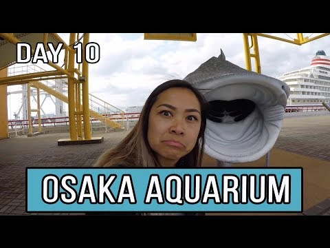 OSAKA AQUARIUM & DOTONBORI FOOD TOUR l JAPAN VLOG 10