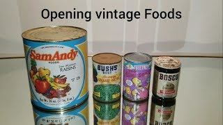 Opening Decades-old Canned Foods 7, 1950s - 90s
