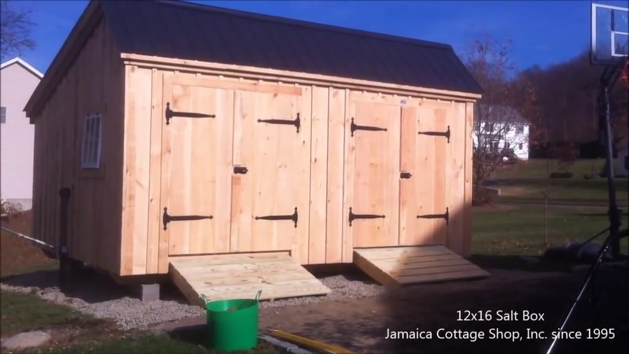 Prefab Shed Delivery With Mule Shed Trailer Youtube