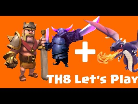 CRAZY DRAGON PEKKA STRATEGY Clash of Clans TownHall 8 (TH8) Let's Play - Episode 93