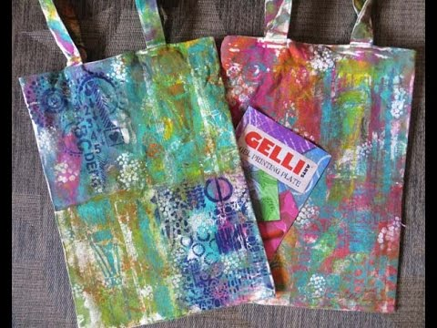 Technique Thursday #17 Gelli Printing on a Canvas Bag Part 1