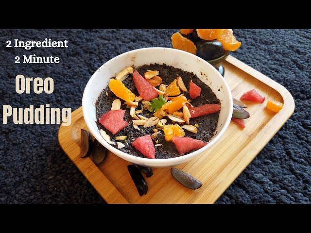 Oreo Biscuit Pudding | Easy & Tasty 2 Ingredient Pudding Recipe in 2 Minutes | Desert Food Feed