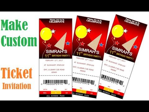 How to make custom ticket invitations in MS word | step by step