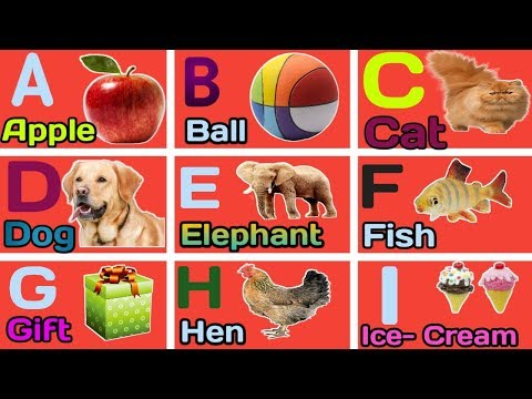 A For Apple B For Ball C For Cat | ABC Phonics Song With Image | ABCD Alphabet | Alphabets
