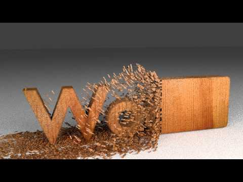 Blender Animation: Wood Chipping