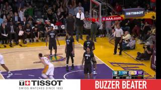 Tissot Buzzer Beater: D'Angelo Russell With The Shooter's Roll! | April 9, 2017