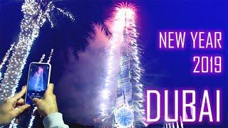 Burj Khalifa Fireworks and Laser show UAE Happy new year 2019 celebrations at Dubai FULL