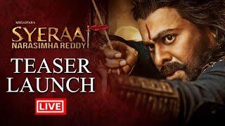 Sye Raa Narasimha Reddy Teaser Launch Live - Chiranjeevi | Ram Charan | Surender Reddy