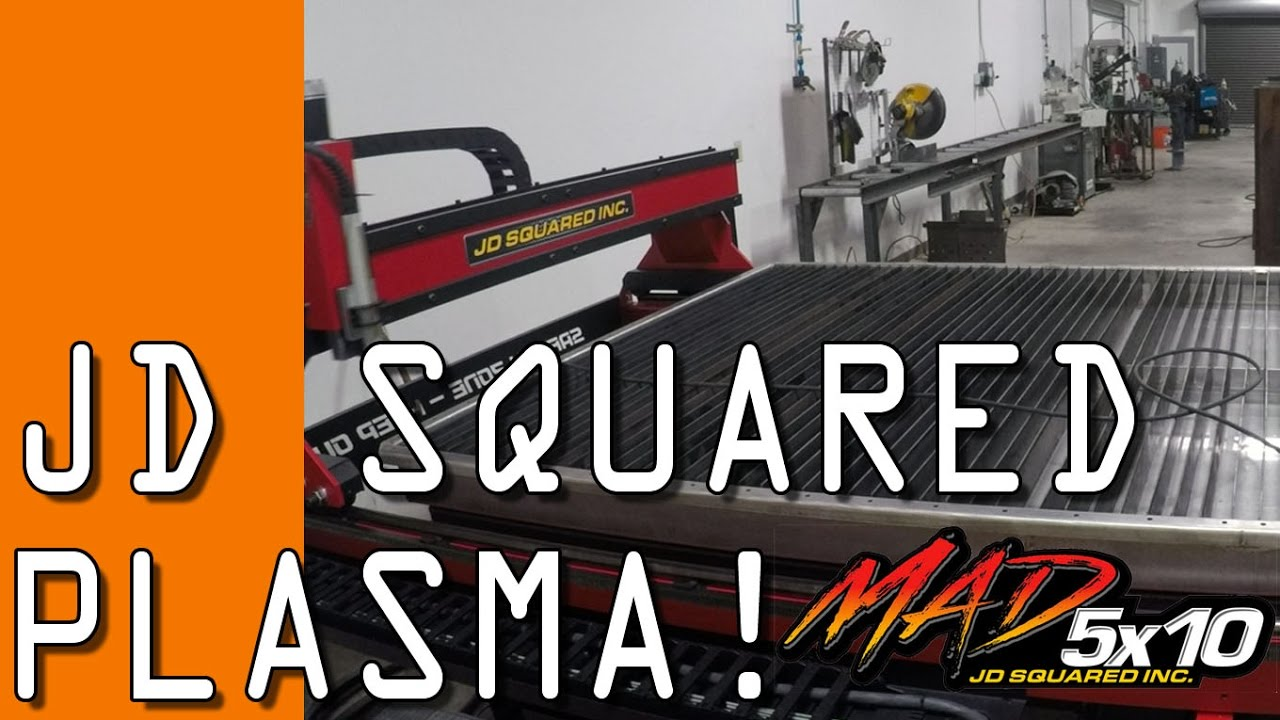 Jd Squared Cnc Plasma Arrival Amp First Cuts Youtube