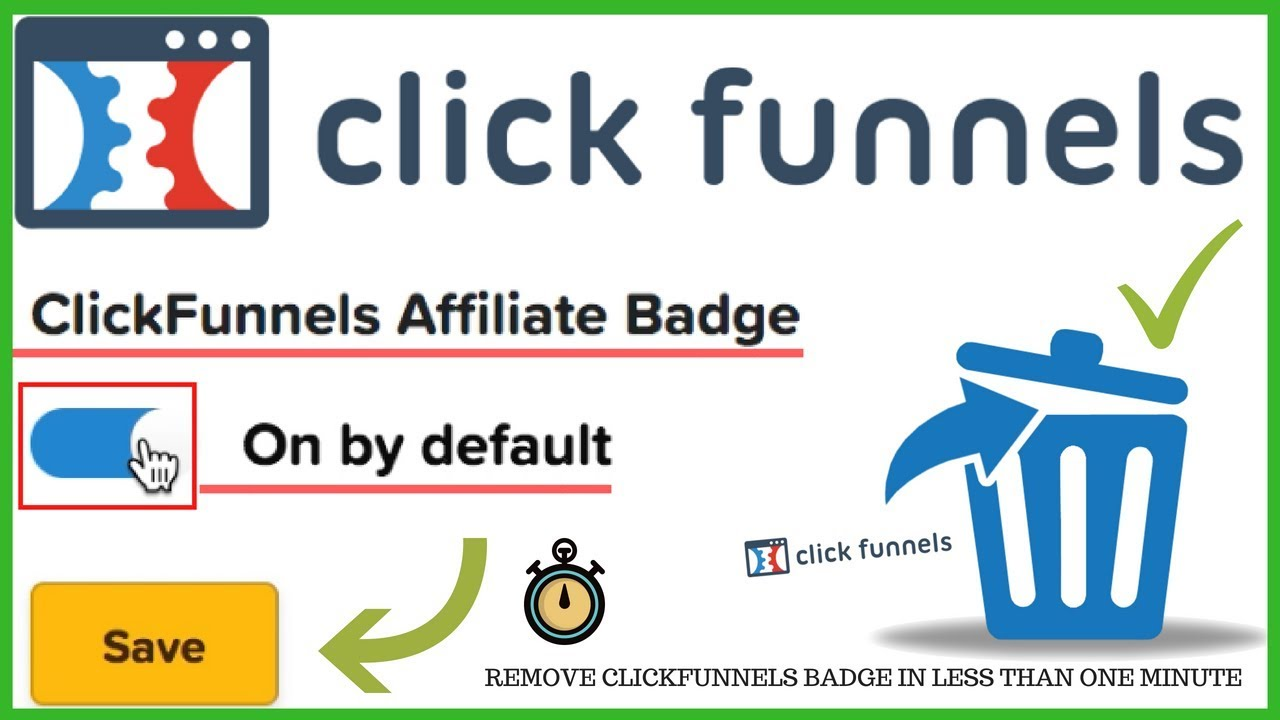 How To Remove The Clickfunnels Affiliate Badge - How To hide The Affiliate Badge In Clickfunnels