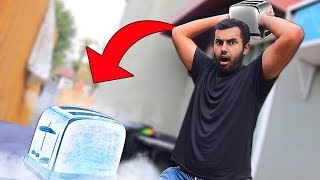 FREEZING Things and Then DESTROYING Them With Themselves!! (LIQUID NITROGEN)