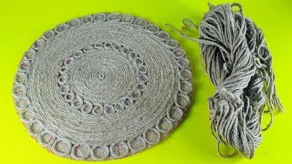 Amazing-Way-To-Reuse-Rope | Make-Doormat-With-Jute | Recycling-Project