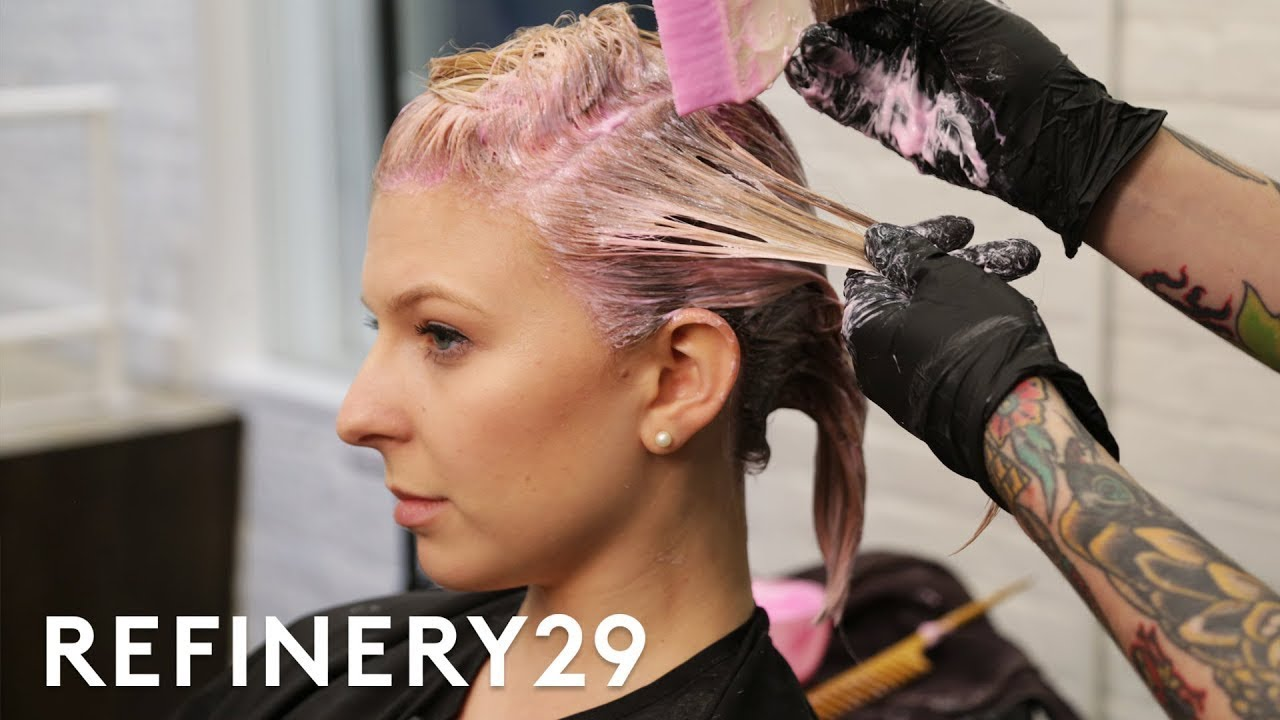 I Dyed My Blonde Hair Rose Pink | Hair Me Out | Refinery29