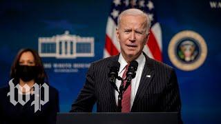 WATCH: Biden, Harris participate in event commemorating 50 millionth coronavirus vaccination in U.S.