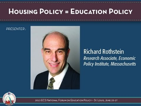 Housing Policy = Education Policy