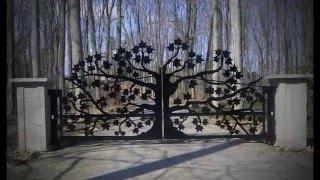 Красивые ворота лазерной резки(, 2016-01-28T09:48:21.000Z)