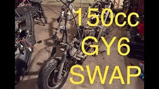 MAKING 50cc SCOOTER FAST | 150cc SWAP HOW TO