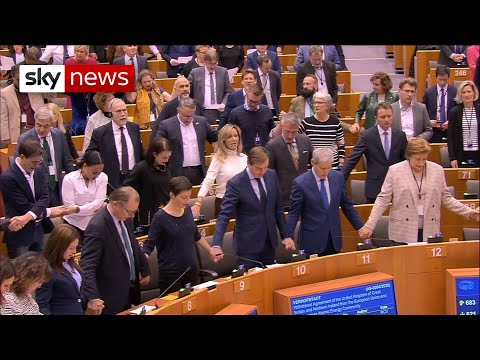 Brexit: MEPs Sing Auld Lang Syne
