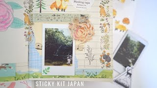 Journal With Me   Sticky Kit Japan July Stickers & Washi Kits Unboxing