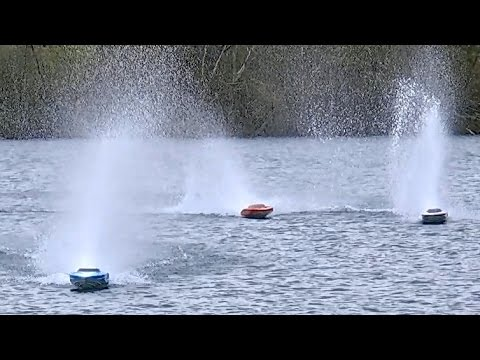 RC ELECTRIC SPEEDBOAT POWERBOAT RACING AMAZING FAST / Powerboat Meeting Edderitz 2016