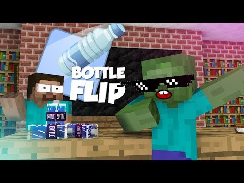 Monster School : Bottle Flip Challenge VS GRANNY - Minecraft Animation