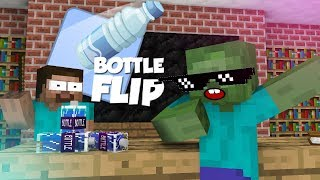 Monster School: Bottle Flip Challenge VS GRANNY - Minecraft Animation