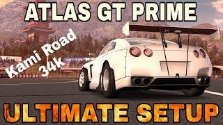 Atlas GT Prime Ultimate Setup (Nissan GTR Rocket Bunny)   Kami Road 34k   CarX Drift Racing