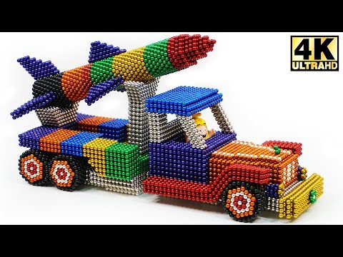 DIY - How To Make Missile Launch Truck with Magnetic Balls (ASMR) | Magnetic Man 4K