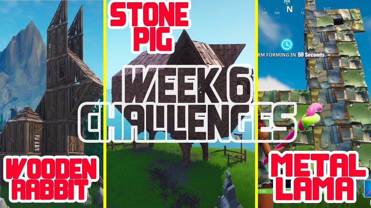 Visit A Wooden Rabbit A Stone Pig And A Metal Llama All 3 Locations Week 6 Challenges Fortnite