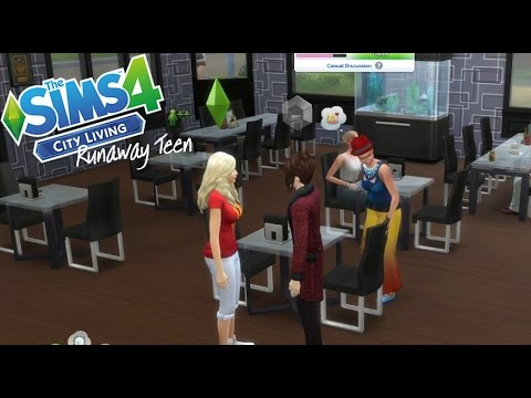 Runaway Teen//City Living//Sims 4// Ep.21-  Disaster Date