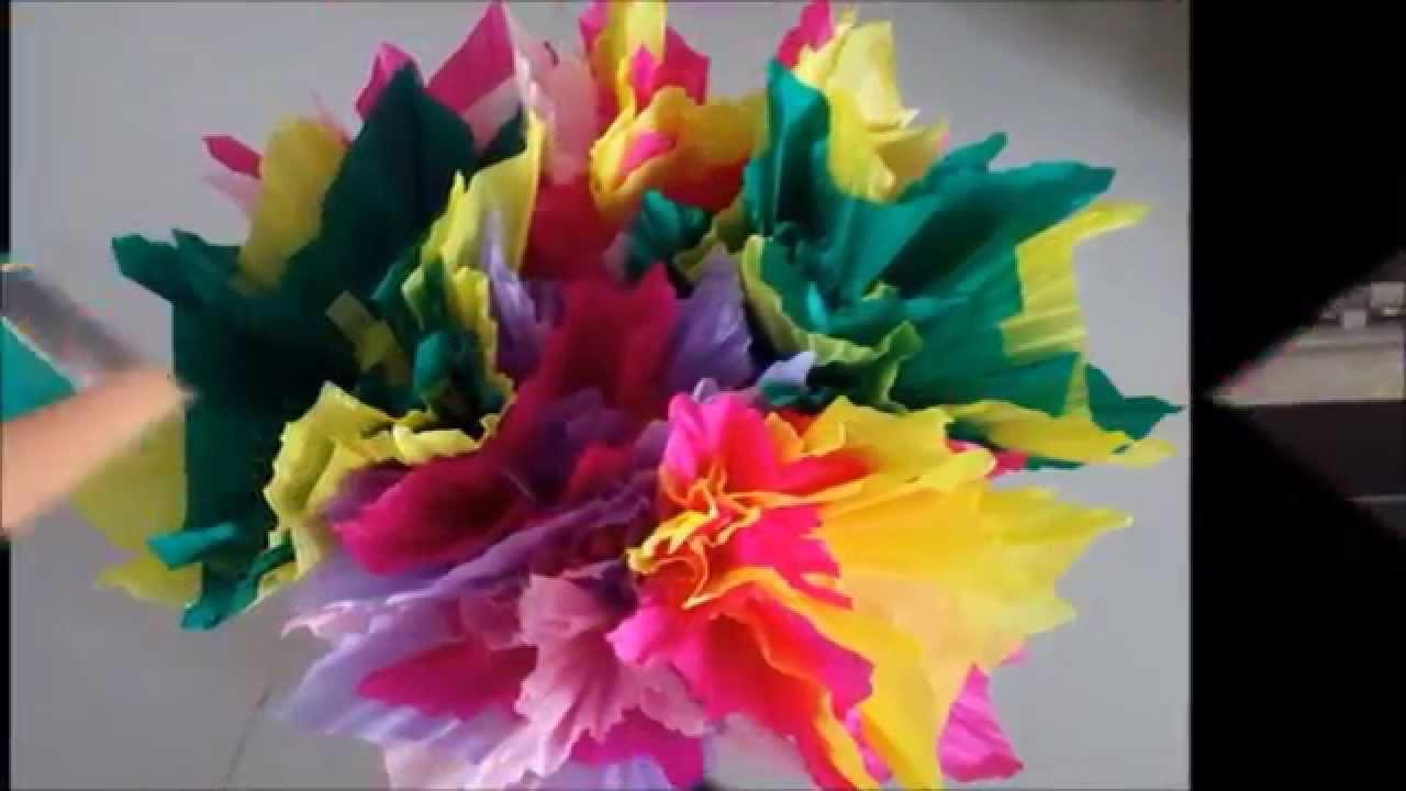 Flores De Papel Arreglo Floral Floral Arrangement With Paper Flowers