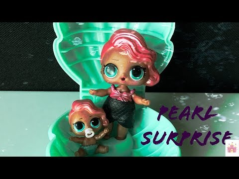 LOL Surprise Dolls Giant Ball - Lil Sisters Purple Pearl Surprise Shell in Bath Fizz