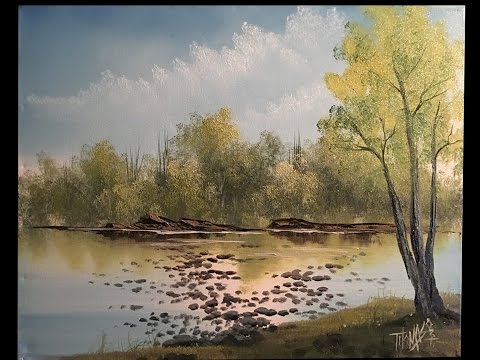 Big Tree Lake (from our live show) wet on wet oil painting ( Painting With Magic SE:5 EP 8)