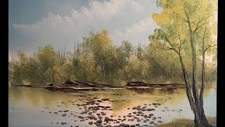 big tree lake from our live show wet on wet oil painting