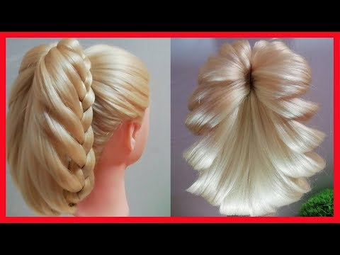 Красивая прическа с косами   Beautiful Hairstyle For Long Hair