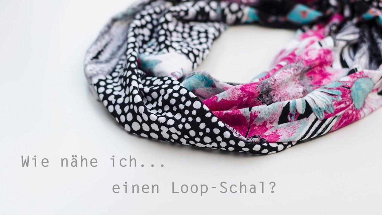 Wie nähe ich...einen Loop-Schal? - YouTube