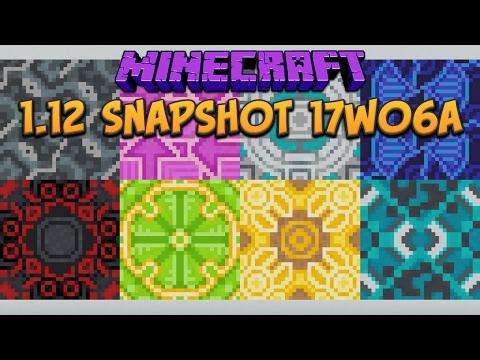 Minecraft 1.12 Snapshot 17w06a Glazed Terracotta, Powdered Concrete & Saved Toolbars!