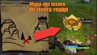 NUEVO DESAFÍO! MAPA DEL TESORO DE RIBERA REPIPI! TEMPORADA 3 |FORTNITE | BATTLE ROYALE