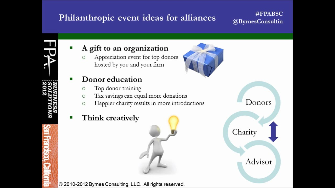 unique ideas for strategic alliances and prospecting events by