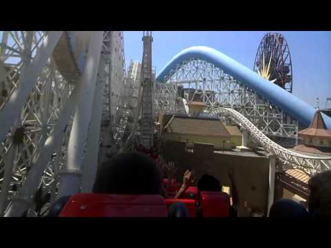 California Screamin' (On Ride Google Glass Video) Disney's CA Adventure