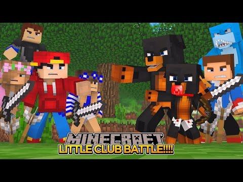 Minecraft - Donut the Dog Adventures -THE LITTLE CLUB TEAM BATTLE!!!!