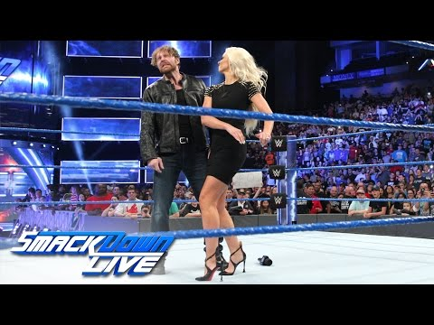 Maryse slaps Dean Ambrose en route to his showdown against The Miz: SmackDown LIVE, Jan. 3, 2017
