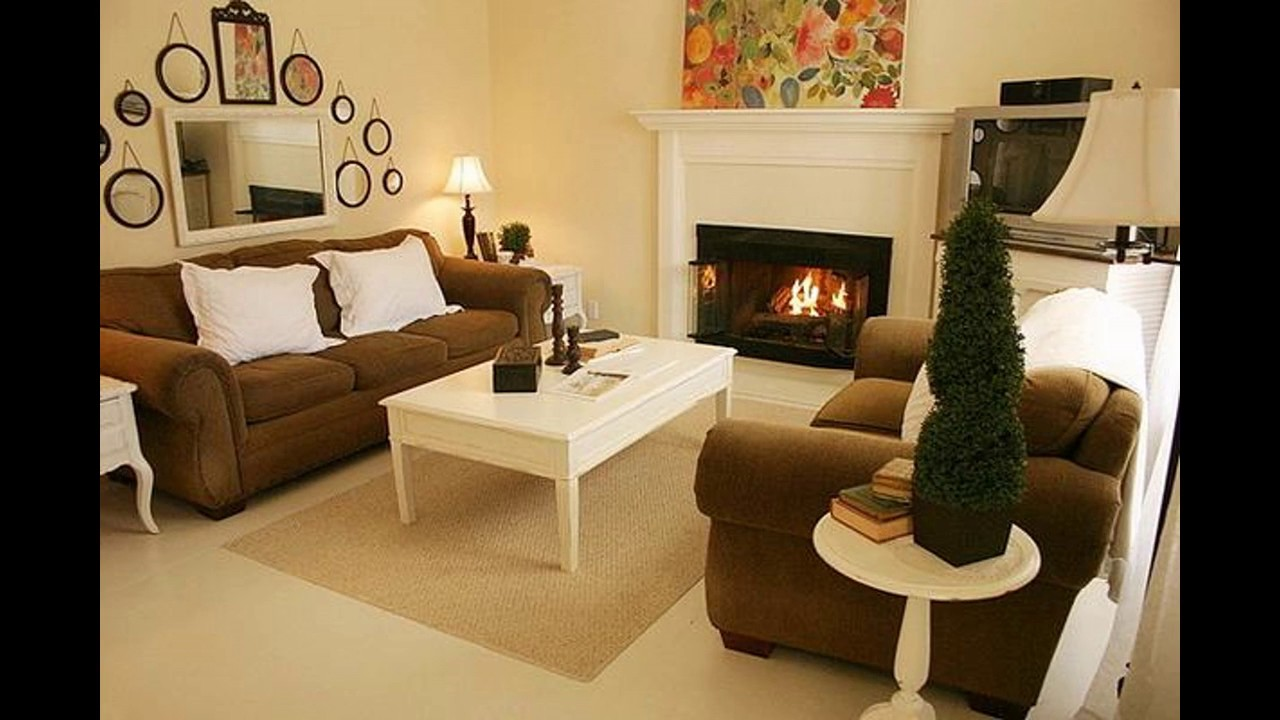 Small living room ideas with fireplace - YouTube on Small Space Small Living Room With Fireplace  id=43733