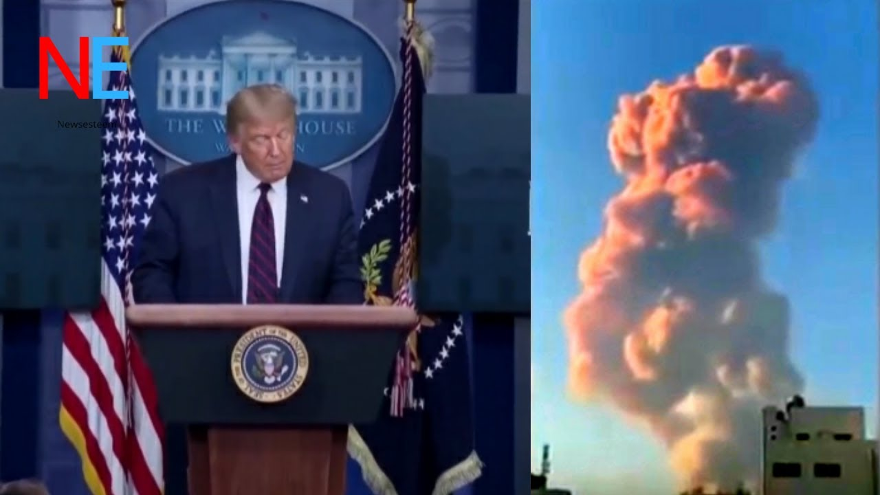 """TRUMP SPEECH : """"Not accidient but attack"""" on beirut accidient ."""