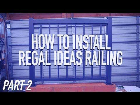 How To Install Regal Ideas Railing PART 2: Top & Bottom Rail || Dr Decks